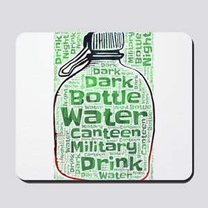 bottle water canteen military water drin Mousepad