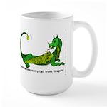 Caffeine keeps my tail from dragon! Large Mug