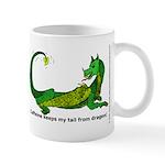 Caffeine keeps my tail from dragon! Mug