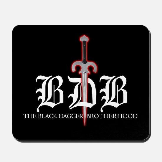 BDB Dagger Logo Black Mousepad