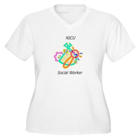 NICU Social Worker Women's Plus Size V-Neck T-Shir