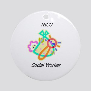 NICU Social Worker Ornament (Round)