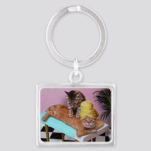 Funny Cat Massage Keychains
