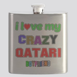 I Love My Crazy Qatari Boyfriend Flask