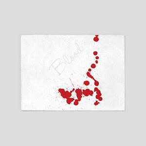 blood spatter splatter paint backgr 5'x7'Area Rug