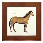 American Quarter Horse Framed Tile