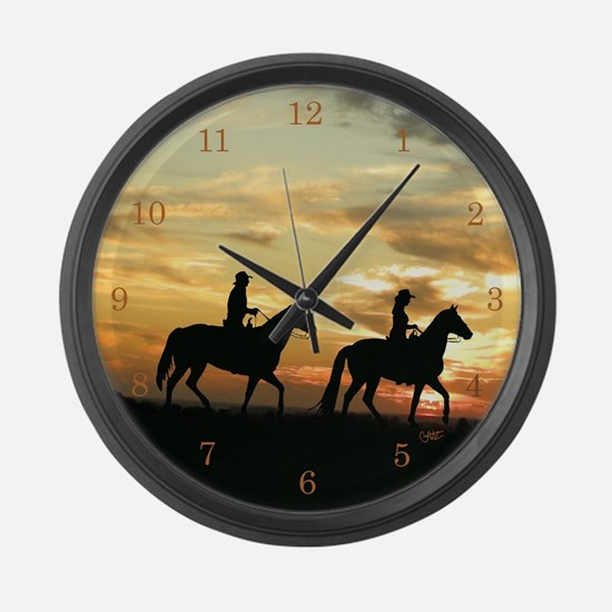 Funny Cowboy Large Wall Clock