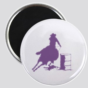 Purple Barrel Racer Female Rider Magnet