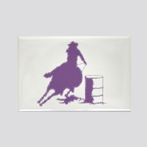 Purple Barrel Racer Female Rider Rectangle Magnet