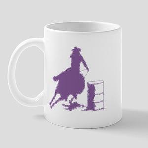Purple Barrel Racer Female Rider 11 oz Ceramic Mug