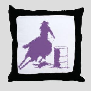 Purple Barrel Racer Female Rider Throw Pillow
