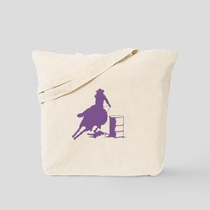 Purple Barrel Racer Female Rider Tote Bag