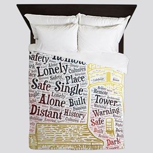 lighthouse alone lonely single distant Queen Duvet