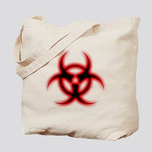 Glowing biohazard Tote Bag