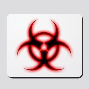 Glowing biohazard Mousepad