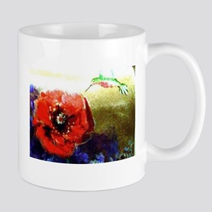 Hummingbird & Poppy Mug