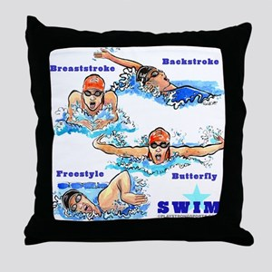 Swimming Star 2 (G) Throw Pillow