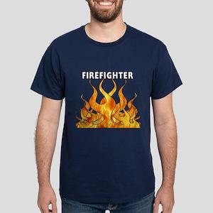 Firefighting Flames Dark T-Shirt