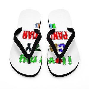 9c044465f997 Panama Girlfriend Flip Flops - CafePress