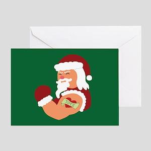 Tattoo greeting cards cafepress santa tattoo greeting card m4hsunfo