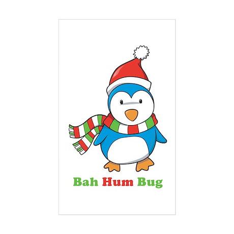 Bah Hum Bug Penguin Rectangle Sticker 10 pk)