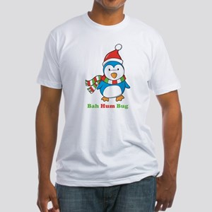 Bah Hum Bug Penguin Fitted T-Shirt
