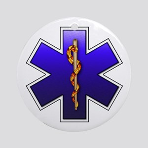 Star of Life(EMS) Ornament (Round)