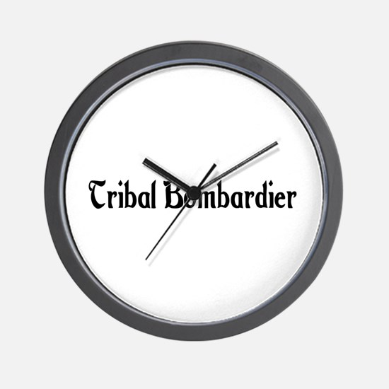Tribal Bombardier Wall Clock