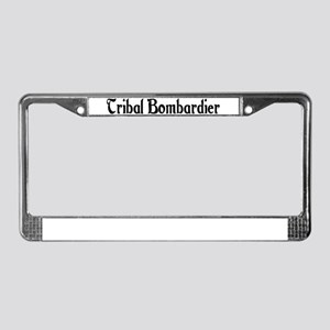 Tribal Bombardier License Plate Frame