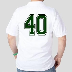 NUMBER 40 BACK Golf Shirt