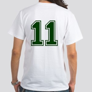 NUMBER 11 FRONT White T-Shirt