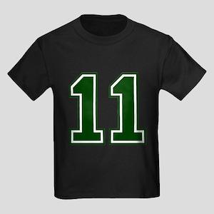 NUMBER 11 FRONT Kids Dark T-Shirt
