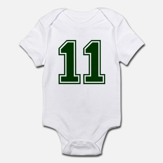 NUMBER 11 FRONT Infant Bodysuit