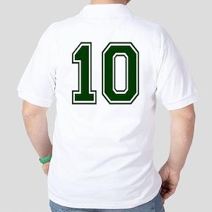 NUMBER 10 BACK Golf Shirt