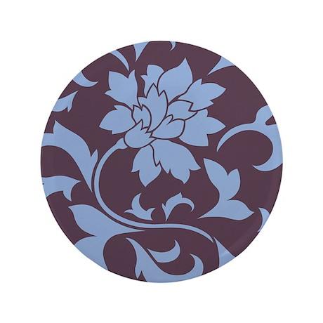 """Oriental Flower - Serenity 3.5"""" Button (100 pack)"""