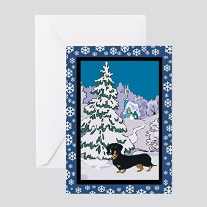 Winter Wonderland Dalmatian Greeting Card