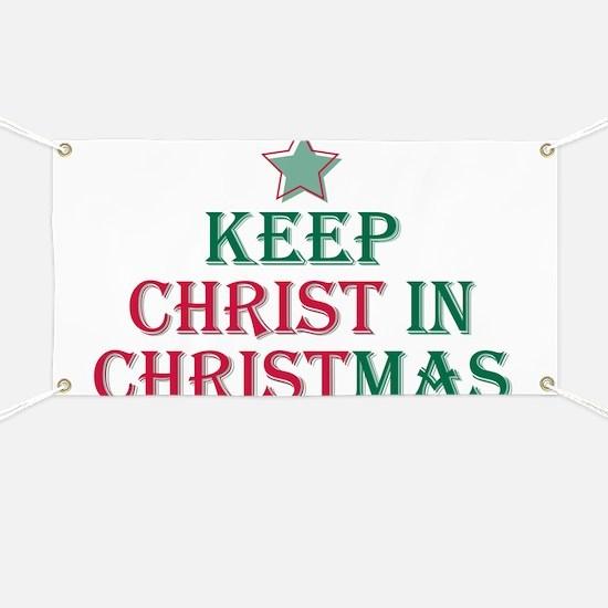 Keep Christ star Banner
