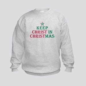 Keep Christ star Kids Sweatshirt
