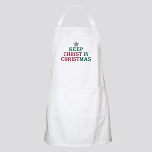 Keep Christ star BBQ Apron