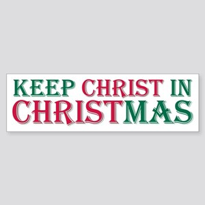 Keep Christ star Bumper Sticker