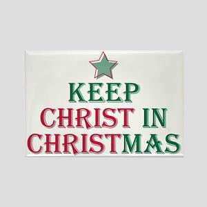 Keep Christ star Rectangle Magnet