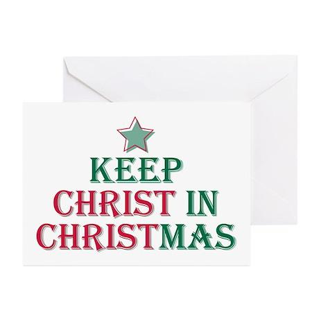Keep Christ star Greeting Cards (Pk of 10)