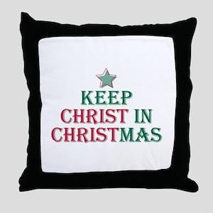 Keep Christ Star Throw Pillow