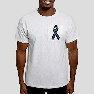 Police Vets Ribbon Ash Grey T-Shirt