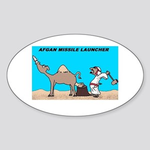 Afgan Missle Launcher Oval Sticker
