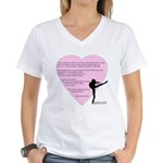 Dance is the only art... Women's V-Neck T-Shirt