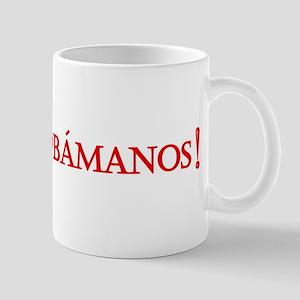 Obamanos blue letters Mug