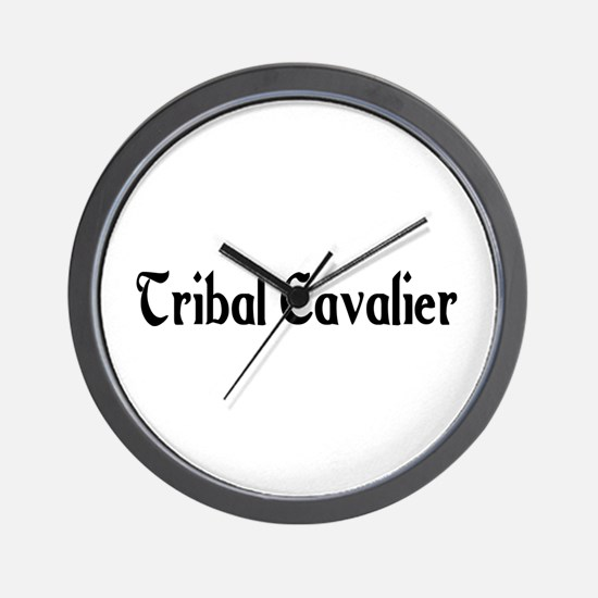 Tribal Cavalier Wall Clock