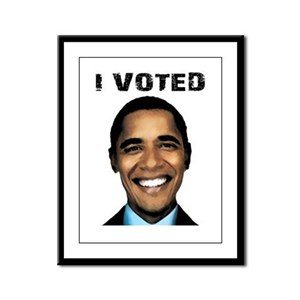 I Voted for Obama Framed Panel Print