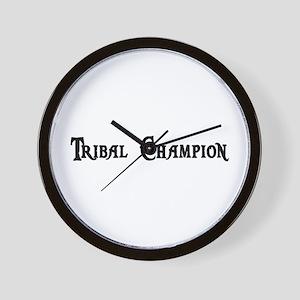 Tribal Champion Wall Clock